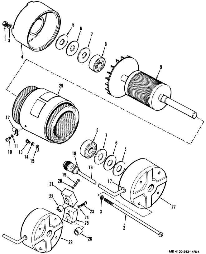 fan clutch exploded diagram