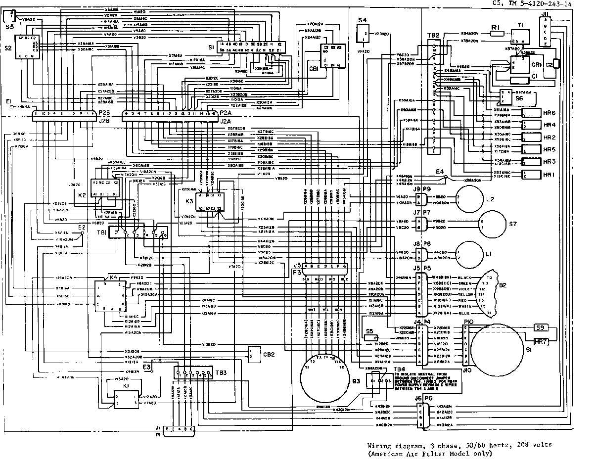208 3 Phase Wiring Diagram : Vac wiring diagram get free image about