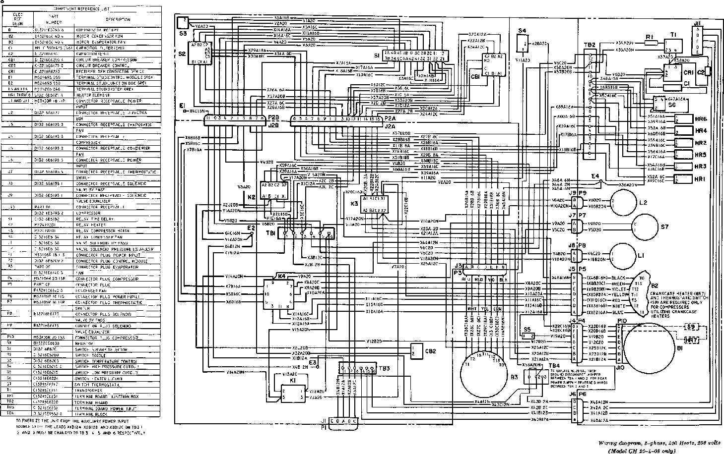 Building 3 Phase Wiring Diagram Great Design Of Three X Y Z Refrigeration Single Compressor 208 9 Lead Motor
