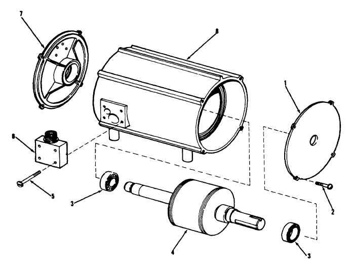 figure 69 condenser fan motor exploded view