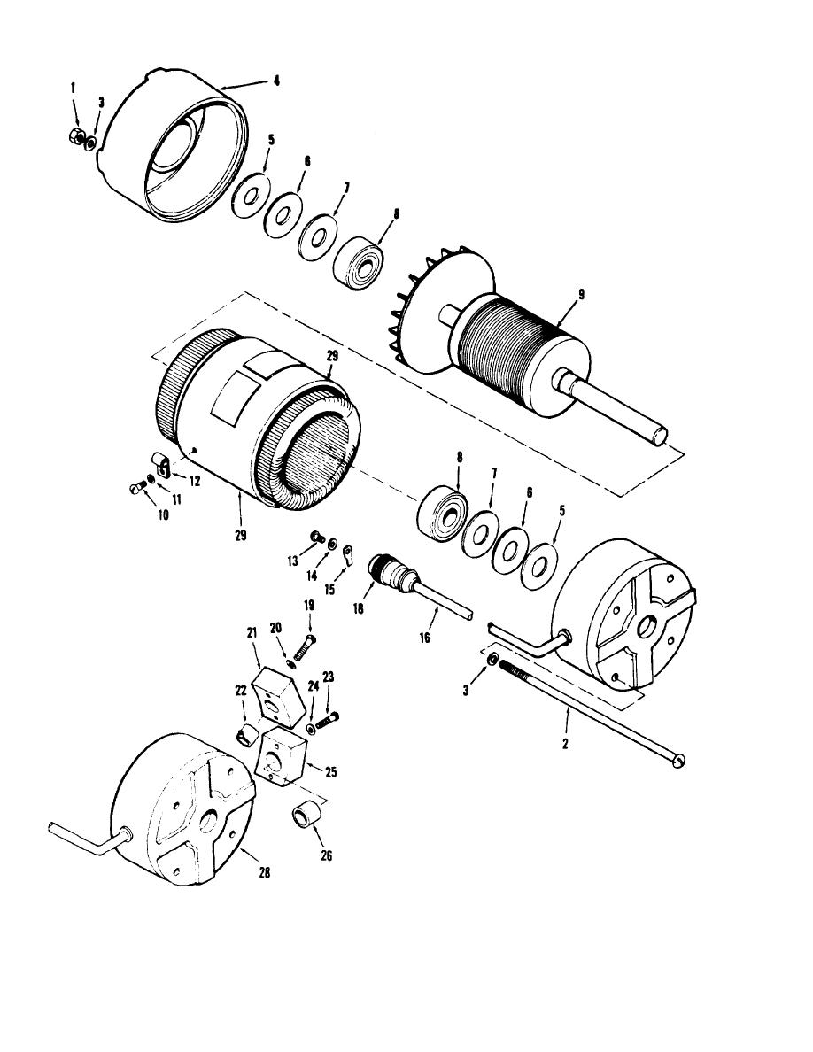Fan Exploded View : Figure fan motor exploded view tm