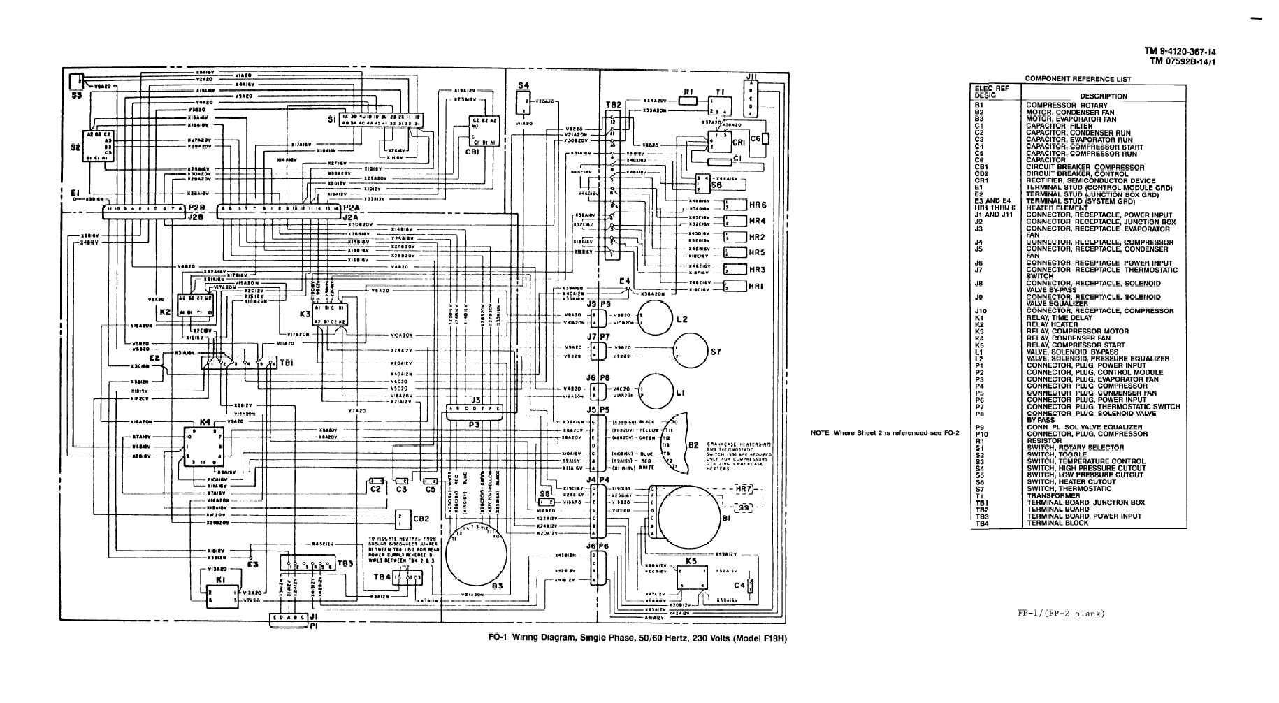 fo 1 wiring diagram single phase 50 60 hertz 230 volts. Black Bedroom Furniture Sets. Home Design Ideas