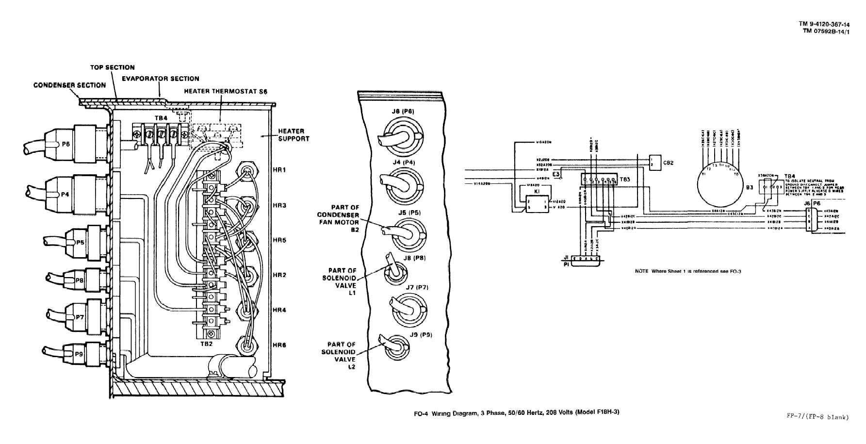 Fo 4 A Hrefhttp Electriciantrainingtpubcom 14176 Css Wiring 3 Phase Basics Diagram 107htmwiring 50 60 Hertz 208 Volts Model F18h